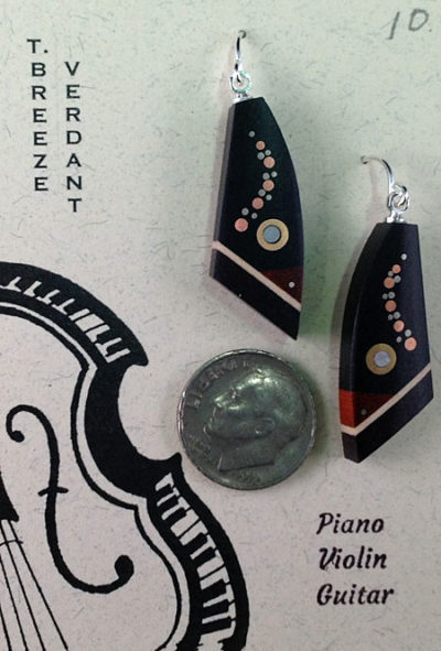 Recycled Musical Instrument Earrings